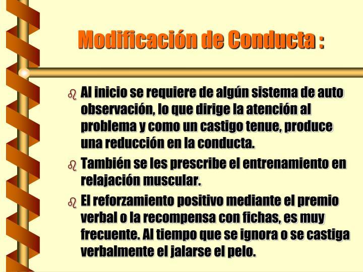 Modificación de Conducta :