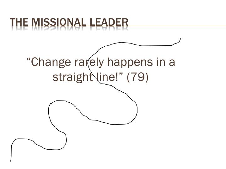 """""""Change rarely happens in a straight line!"""" (79)"""