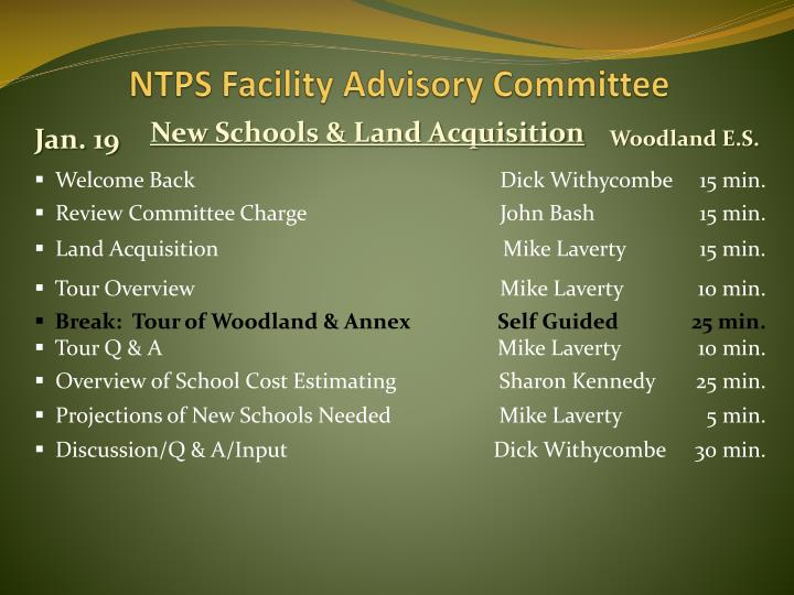 ntps facility advisory committee n.