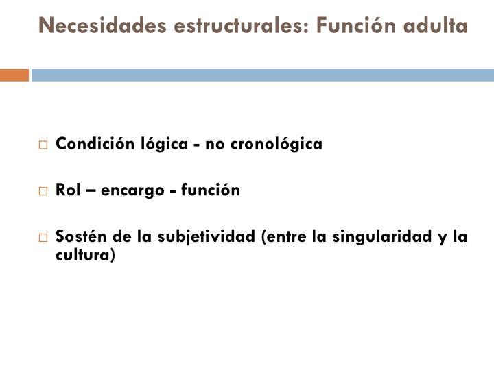 Necesidades estructurales: Función