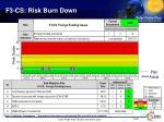 f3 cs risk burn down
