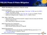 fields phase b risks mitigation