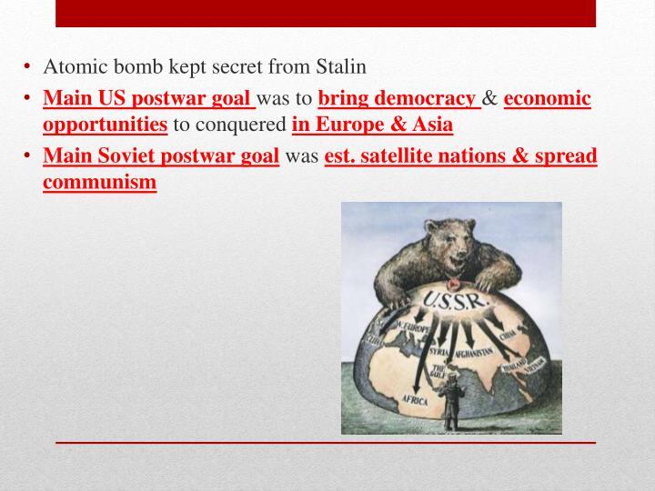 Atomic bomb kept secret from Stalin