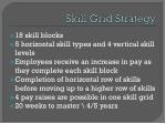 skill g rid strategy
