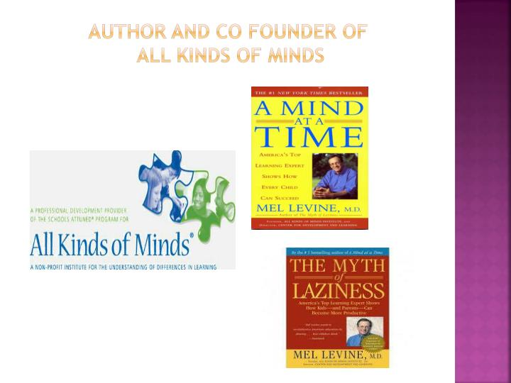 Author and co Founder of