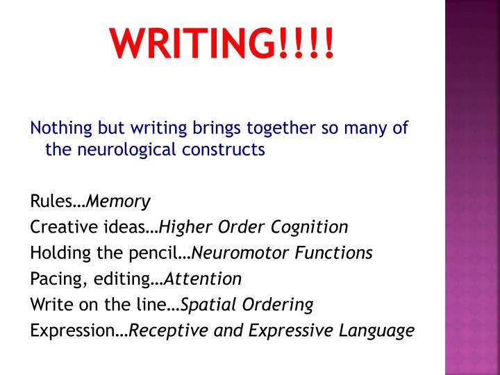 Writing!!!!
