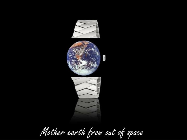 Mother earth from out of space