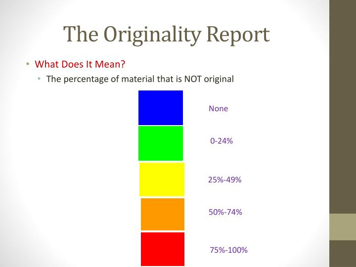 The Originality Report