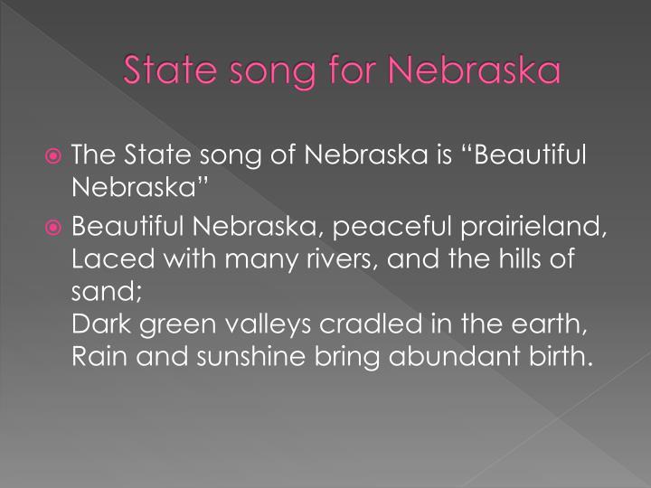 State song for Nebraska
