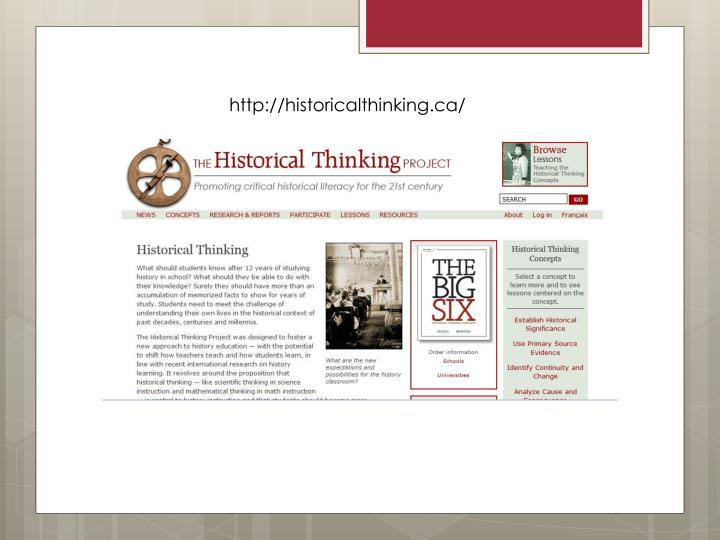 http://historicalthinking.ca/