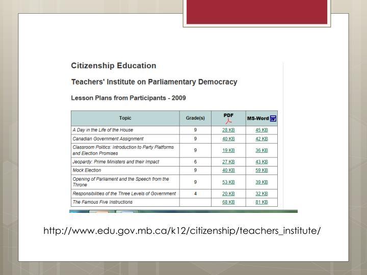 http://www.edu.gov.mb.ca/k12/citizenship/teachers_institute/