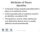 attributes of places identifier