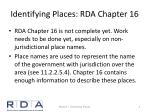 identifying places rda chapter 16