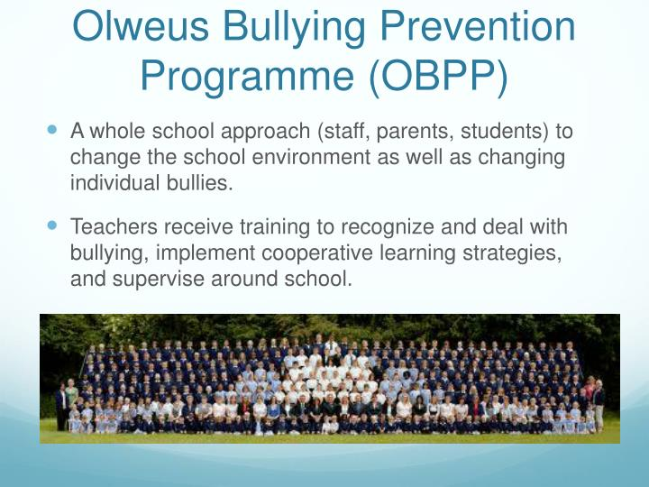 Olweus bullying prevention programme obpp