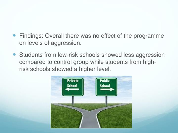 Findings: Overall there was no effect of the