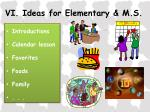 vi ideas for elementary m s