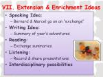 vii extension enrichment ideas