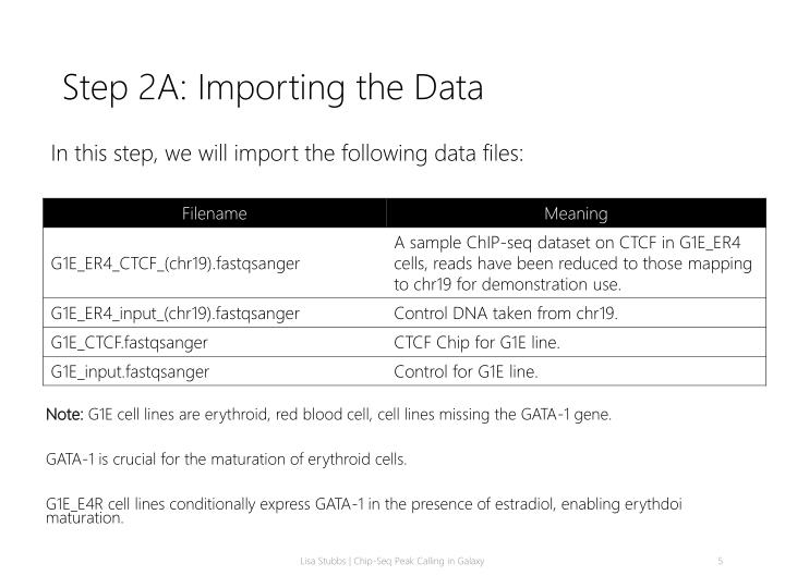 Step 2A: Importing the Data