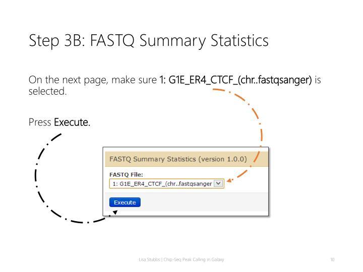 Step 3B: FASTQ Summary Statistics