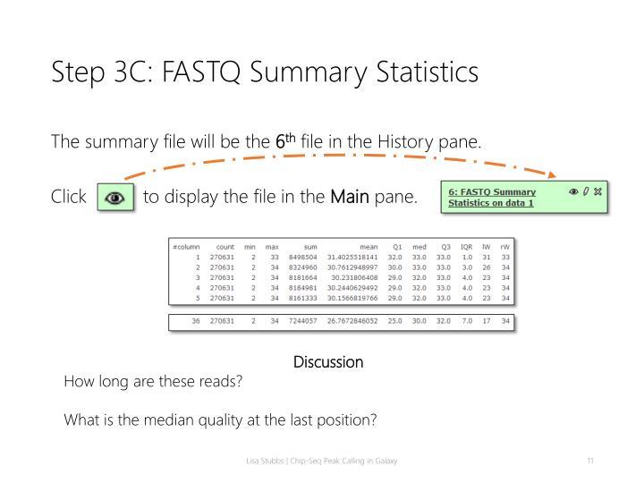 Step 3C: FASTQ Summary Statistics
