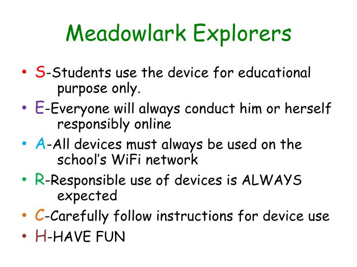 Meadowlark explorers