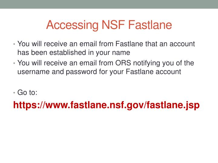 Accessing NSF