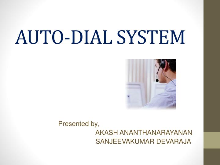 auto dial system n.