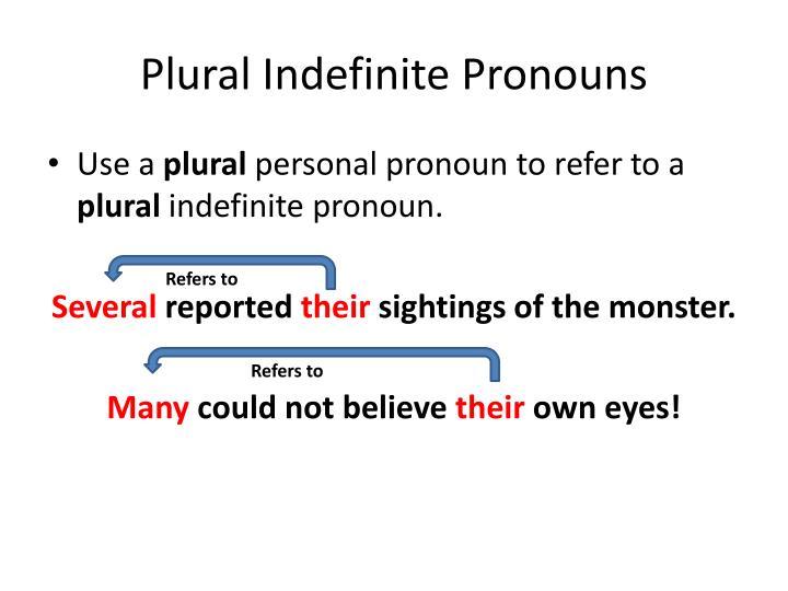 Plural Indefinite Pronouns