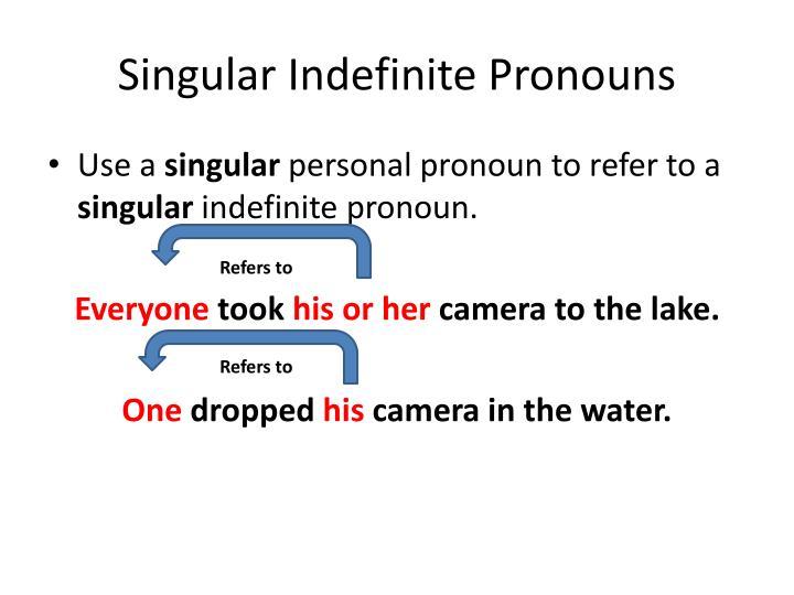 Singular Indefinite Pronouns