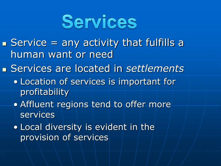 services n.