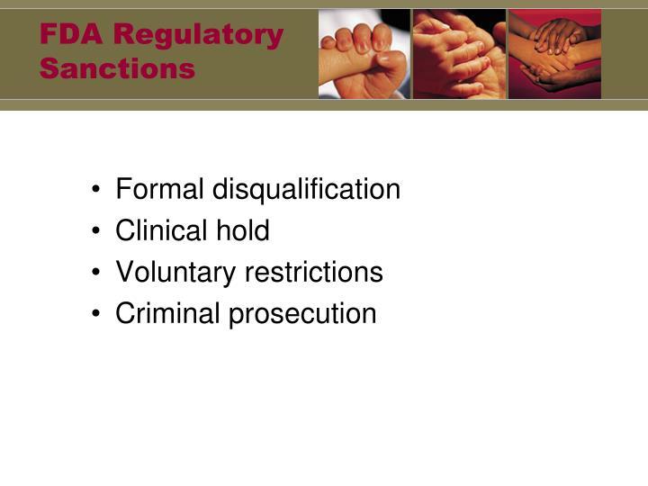 FDA Regulatory Sanctions