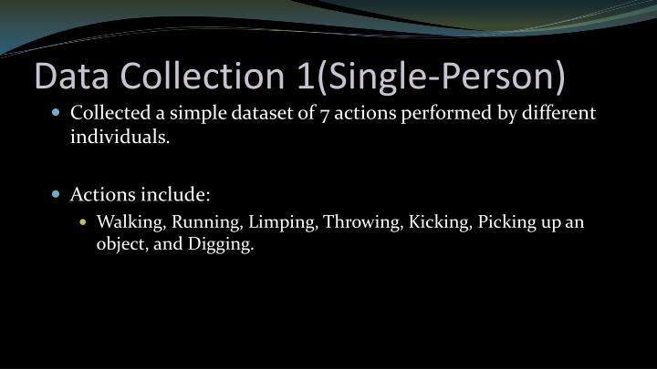 Data collection 1 single person