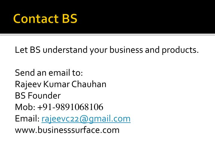 Contact BS