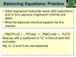 balancing equations practice5