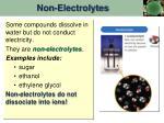 non electrolytes