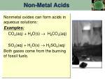 non metal acids