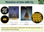 reaction of iron with cl 2