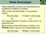 weak electrolytes1