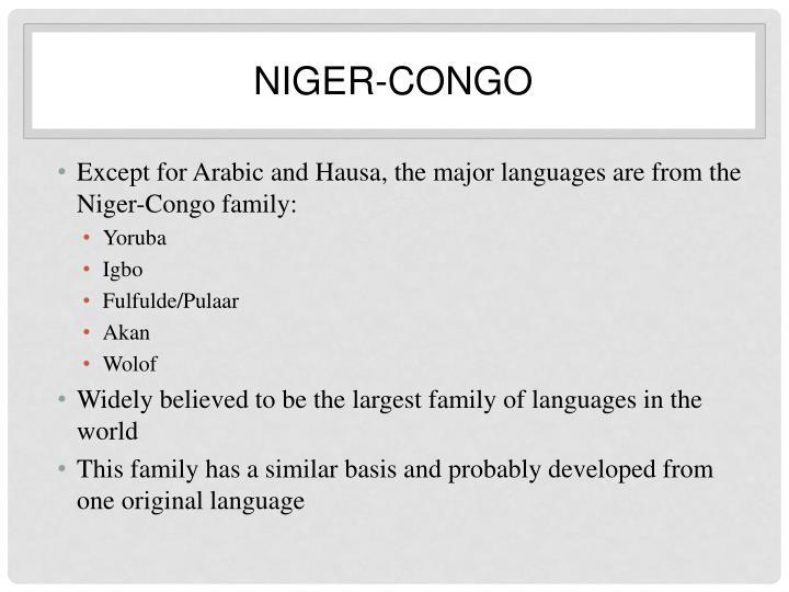 Niger congo