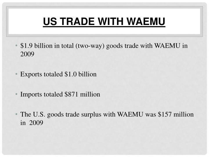 US Trade with WAEMU
