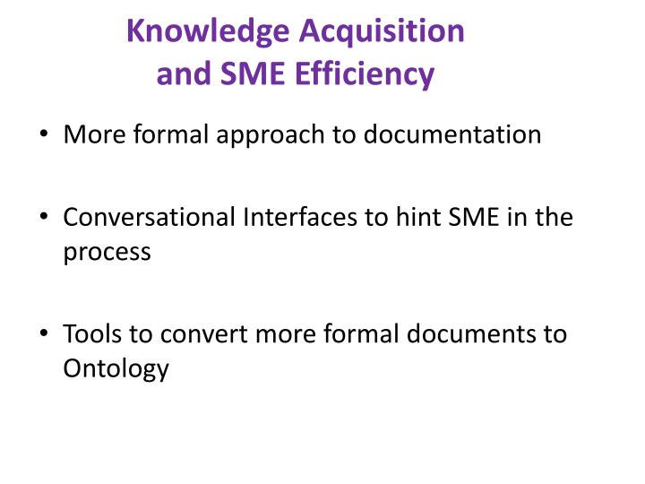 Knowledge Acquisition and SME Efficiency
