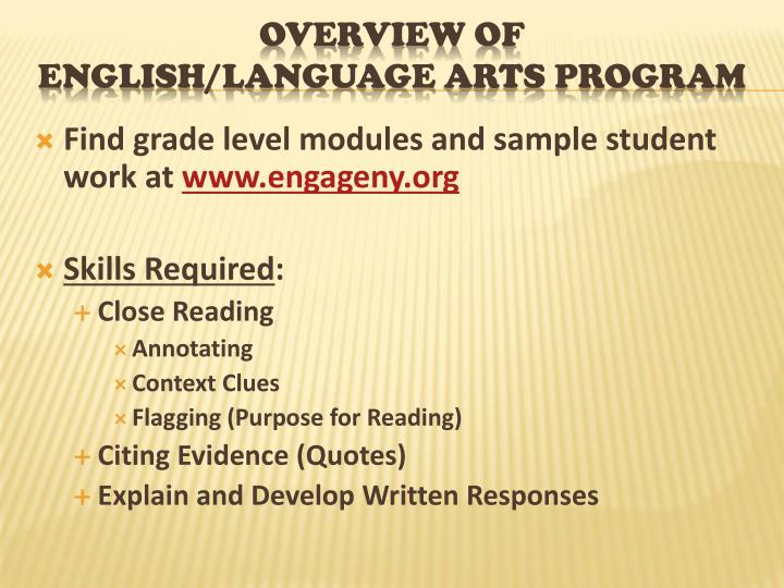 Find grade level modules