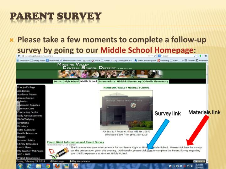 Please take a few moments to complete a follow-up survey by going