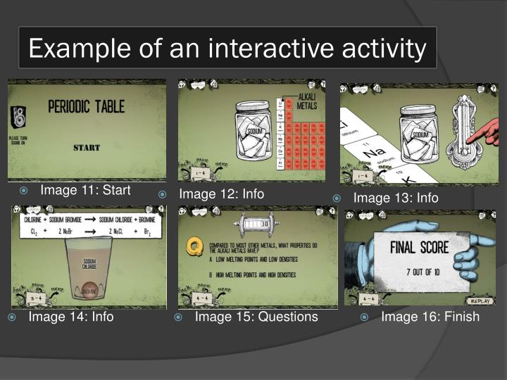 Example of an interactive activity