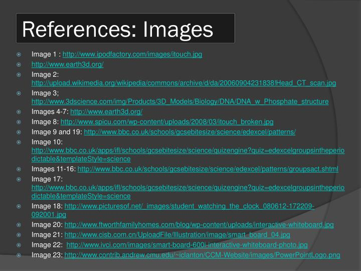 References: Images