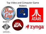 top video and computer game makers