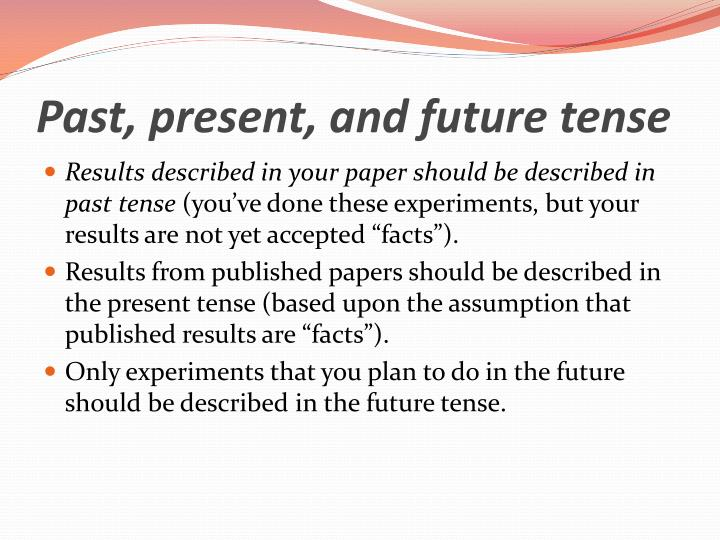 Past, present, and future tense