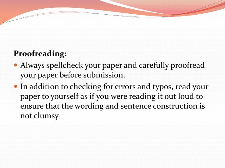 Proofreading: