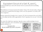 equivalent circuit of a cell r s and c d3