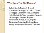 who were the old masters